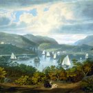 West Point from Phillipstown canvas art print by W.J. Bennett