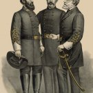 Lee, Jackson, Beauregard 1896 portraits Civil War canvas art print BIG