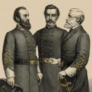 Lee, Jackson, Beauregard portraits 1896 Civil War canvas art print