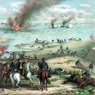 Monitor Merrimack Naval Battle Civil War canvas art print Kurz Allison
