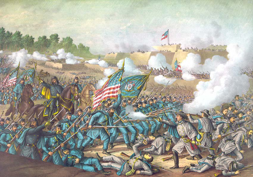 Williamsburg Battle Magruder Civil War canvas art print Kurz & Allison