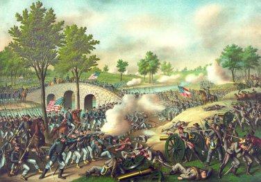 Antietam, Sharpsburg Battle Civil War canvas art print Kurz & Allison