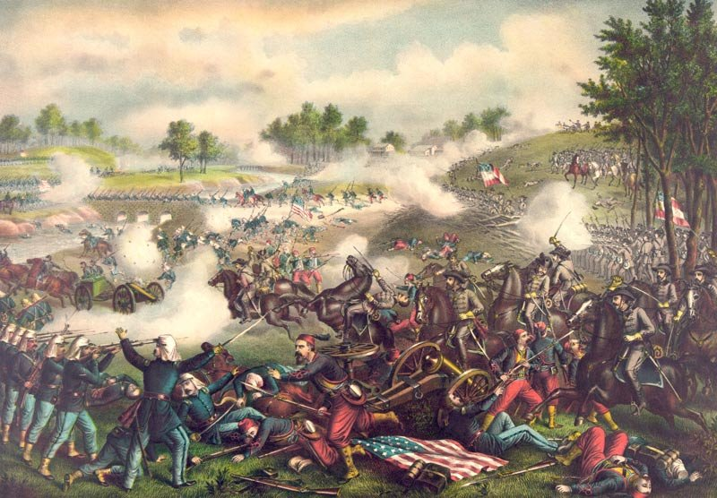 Bull Run 1st Manassas battle Civil War canvas art print Kurz & Allison