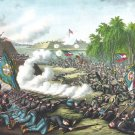 Corinth Battle 1862 Miss. Civil War canvas art print Kurz and Allison