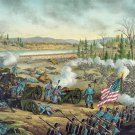 Stones River Battle 1862 Civil War canvas art print Kurz & Allison