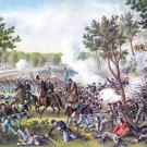Champion Hill Bakers Ck Battle Civil War canvas art print Kurz Allison