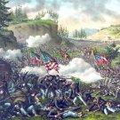 Chickamauga Battle Georgia Civil War canvas art print Kurz & Allison