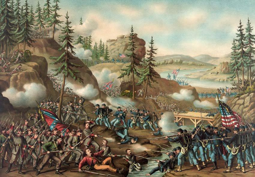 Chattanooga Battle Grant Bragg Civil War canvas art print Kurz Allison