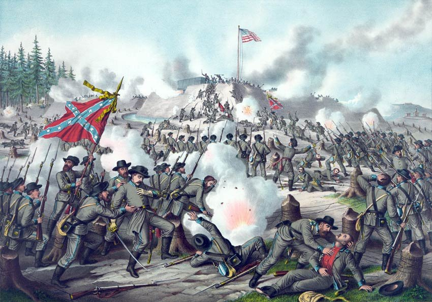 Fort Sanders Assault Battle Civil War canvas art print Kurz & Allison