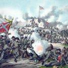Fort Sanders Assault Battle Civil War canvas art print Kurz & Allison