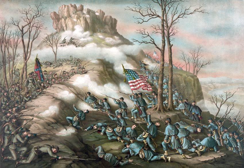 Lookout Mountain Battle 1863 Civil War canvas art print Kurz & Allison
