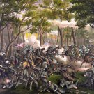 Wilderness Battle 1864 Civil War canvas art print by Kurz & Allison