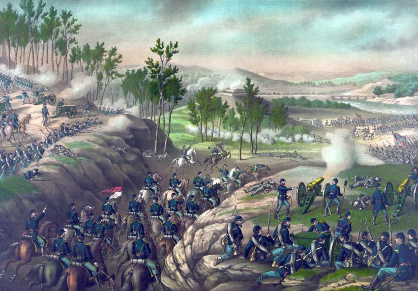 Resaca Battle 1864 Sherman Civil War canvas art print Kurz & Allison