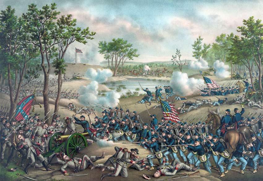 Cold Harbor Battle Grant Lee Civil War canvas art print Kurz & Allison