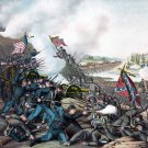 Franklin Battle 1864 Civil War canvas art print Kurz & Allison
