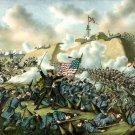 Capture Fort Fisher battle Civil War canvas art print Kurz & Allison