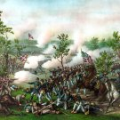 Battle Atlanta Georgia Civil War canvas art print by Kurz & Allison