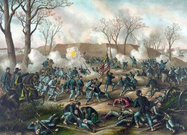 Fort Donelson Battle 1862 Civil War canvas art print Kurz and Allison