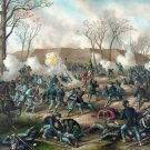 Fort Donelson Battle 1862 Civil War canvas art print Kurz and Allison