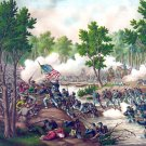 Battle Spotsylvania Meade Lee Civil War canvas art print Kurz Allison