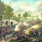 Battle of Antietam Sharpsburg Civil War canvas art print Kurz Allison