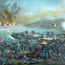 Battle Frederickburg I 1862 Civil War canvas art print Kurz & Allison