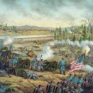 Battle of Stones River 1862 Civil War canvas art print Kurz & Allison
