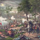 Battle Chancellorsville 1863 Civil War canvas art print Kurz & Allison