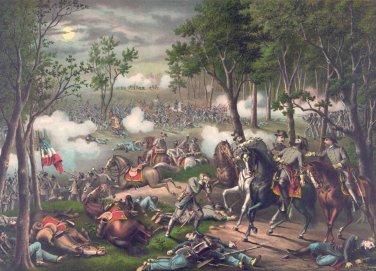 Battle Chancellorsville 1863 Civil War canvas art print Kurz & Allison