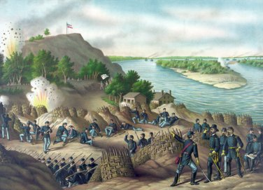 Siege Battle Vicksburg Grant Civil War canvas art print Kurz & Allison