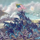 Storming Fort Wagner battle Civil War canvas art print Kurz & Allison