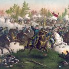 Battle Cedar Creek Sheridan Civil War canvas art print Kurz & Allison