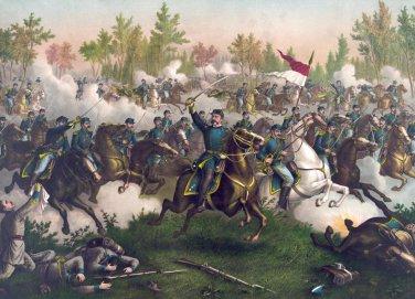 Battle Cedar Creek Sheridan Civil War canvas art print Kurz & Allison