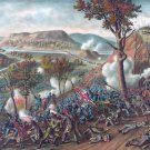 Battle Missionary Ridge 1863 Civil War canvas art print Kurz & Allison