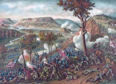 Battle Missionary Ridge 1863 Civil War canvas art print Kurz & Allison