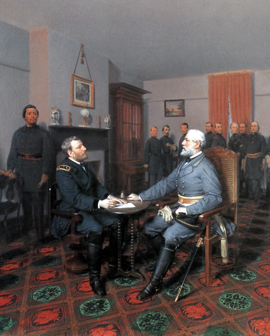Lee Surrenders to Grant Appomattox Civil War art print Guillaume LARGE
