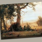 Guerrilla Attack Post Civil War Gallery Wrap canvas art print Bierstadt