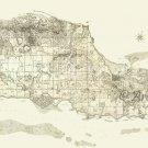 St Croix Danish WI US Virgin Islands 1799 Plantation Map Canvas Oxholm