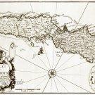 St Croix Danish W. Indies 1671 Plantation Map Canvas Print by Lapointe