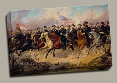 Ulysses S Grant and his Generals Gallery Wrap Canvas Art Print Balling