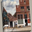 The Little Street cityscape Gallery Wrap canvas art print Vermeer