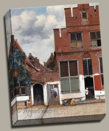 The Little Street cityscape Gallery Wrap canvas art print Vermeer