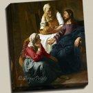Christ House Martha Mary Gallery Wrap canvas art print Vermeer