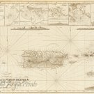 Porto Puerto Rico British and US Virgin Islands Danish West Indies 1857 Caribbean map by Hobbs