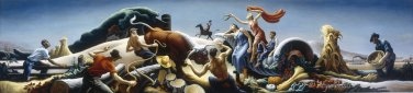 Achelous and Hercules 1947 large canvas art print by Thomas Benton