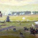 Gettysburg Battle 1863 Civil War canvas art print by Edwin Forbes