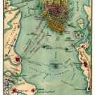 Rebel Defenses Charleston Harbor South Carolina 1863 Civil War map by Sneden