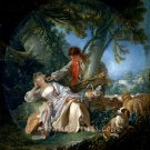 The Interrupted Sleep 1750 canvas art print by Francois Boucher