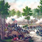 Spotsylvania Battle Civil War art print by Kurz & Allison