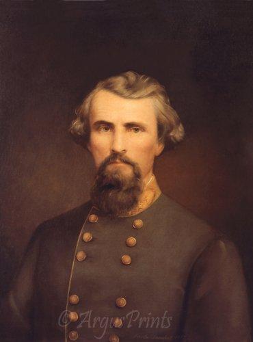 General Nathan B Forrest Civil War fine art print Nicola Marschall